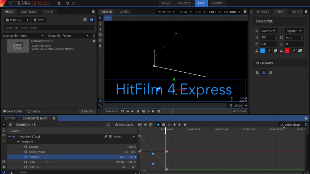 Hitfilm 4 express overview inscape digital the rate stretch tool makes it easy to adjust the speed of your footage in the timeline jkl playback controls were also added pressing j plays your clip ccuart Images