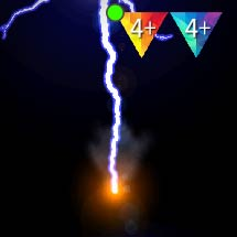 Quick bolt of lightning with puff of smoke [Flicker, Anamorphic Lens Flares]